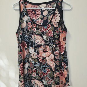 LOFT Outlet Multicolored Sleeveless Blouse Size M